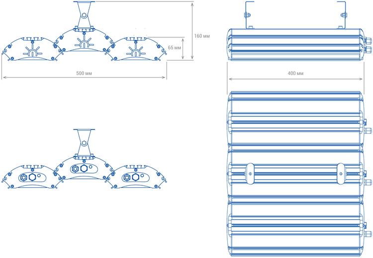 Светильники TL PROM 150 размеры